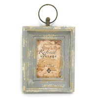Concepts in Time 4'' x 6'' Ring Distressed Frame (Grey)