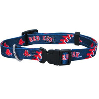 Boston Red Sox Dog Collar Large