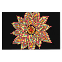 "Pom Graphic Design ""Incandescent Flower"" Decorative Door Mat"