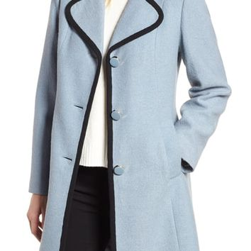 kate spade new york back bow boiled wool coat | Nordstrom