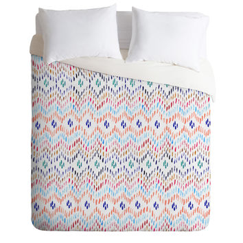 CayenaBlanca Colourful Ikat Duvet Cover