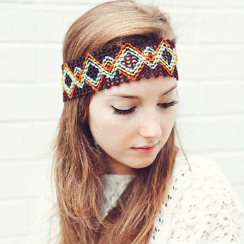 Tribal Headband by BglorifiedBoutique on Etsy