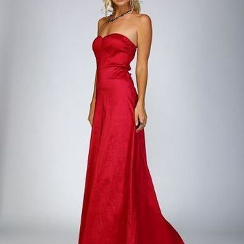 Adorn Sweetheart Satin Gown