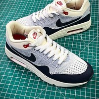 Nike Air Max 1 Ultra Flyknit Og White Grey Black Sport Running Shoes - Best Online Sale
