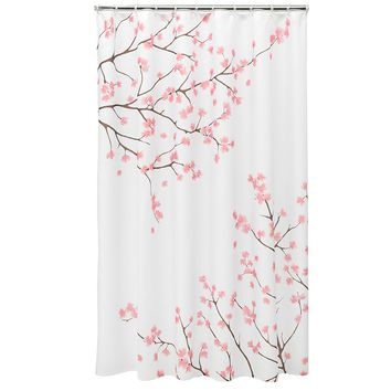 Home Classics Cherry Blossom Fabric Shower Curtain (Pink)