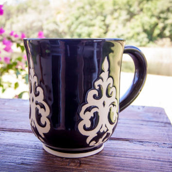 Black mug, Coffee mug, Wheel thrown pottery mug, Stoneware mug, Handmade mug