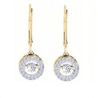 3/8ct tw Diamond Halo Drop of Life Earrings in 14K Yellow Gold - Drop of Life - Collections - Jewelry & Gifts