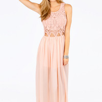 Missa Crochet Maxi Dress $68