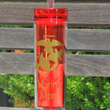 military cup, marines mom cup, acrylic cup, personalized cup, military mom cups, military wife cup, marine corp cup, customized cup