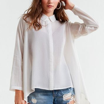 UO Trapeze Button-Down Shirt | Urban Outfitters