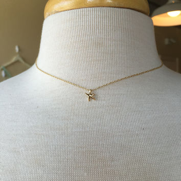 Baby Starfish Sterling Silver Necklace