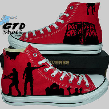 1b2684b0e426 Hand Painted Converse Hi. The Walking from Genuine Touch Designs