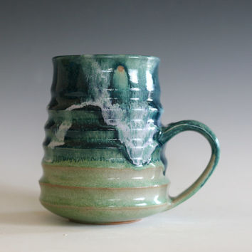 LARGE Coffee Mug, 22 oz, Large Mug,handmade ceramic cup, handthrown mug, stoneware mug, pottery mug unique coffee mug ceramics and pottery