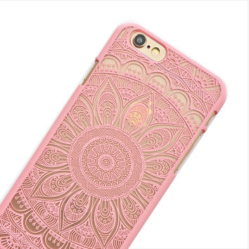 Baby Pink Sunflower Mandala Phone Case