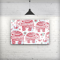 Sacred Red Elephant and Polkadots - Fine-Art Wall Canvas Prints