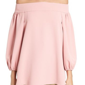 Tibi Twill Off the Shoulder Top | Nordstrom