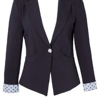 Banana Flame Structured Blazer