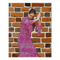 Spanish Flamenco Dancer Abstract Art Poster
