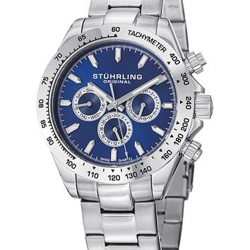 Stuhrling Original Men's Men's Raceway Watch - Silver