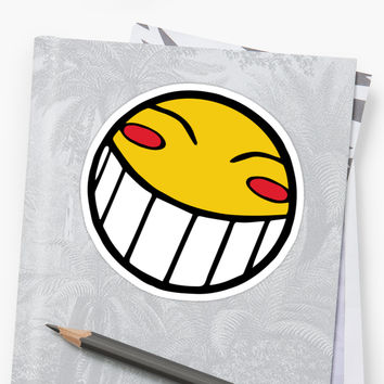 'Cowboy Bebop Radical Ed Smiley Face' Sticker by ThatGuyScout