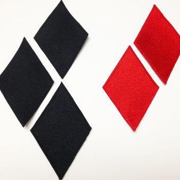 Harley Quinn Diamond Cosplay Patches