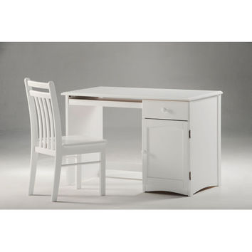 Night & Day Furniture CSD-CLO-WH Clove Student Desk in White Finish