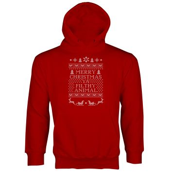 Merry Christmas Ya Filthy Animal Hoodie Filthy Animal Hoodie