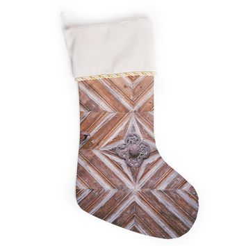 "Ann Barnes ""Bavaria"" Brown Gold Photography Christmas Stocking"