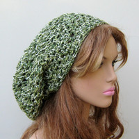 Ivy Green Tam Hat Hippie Dreadlock Sock Summer Slouchy beanie dread cotton blend