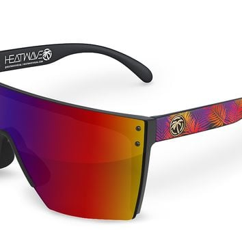 Lazer Face Sunglasses: Neon Palm Customs