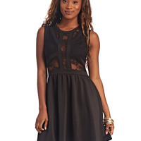 Caged Lacey Skater Dress | Wet Seal