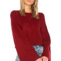 Lovers + Friends Maxine Sweater in Cherry | REVOLVE