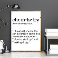 CHEMISTRY Funny Wall Art Definition Print Home Decor Printable Art Instant Download Typography Art Name Definition Wall Art INSTANT DOWNLOAD