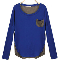 'The Malak' Color Block Batwing Sleeve T-Shirt