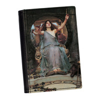 Circe Offering the Cup to Odysseus by John William Waterhouse High Quality PU Faux Leather Passport Cover by Painting Masterpieces