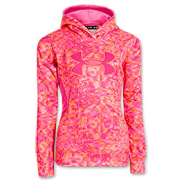 Girls' Under Armour Fleece Storm Printed Big Logo Hoodie