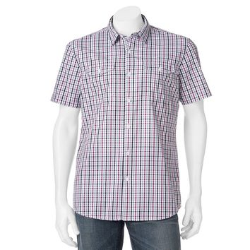 Apt. 9 Modern-Fit Checked Woven Casual Button-Down Shirt