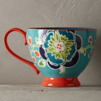 Bellina Blooms Mug by Anthropologie