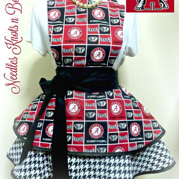 University of Alabama Womens Apron, Alabama Crimson Tide Apron, Aprons, Game Day, Roll Tide