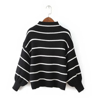 Winter Women's Fashion Stripes Pullover Sweater [6512986055]
