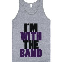 C - With The Band-Unisex Athletic Grey Tank
