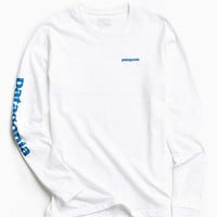 Patagonia Text Logo Long Sleeve Tee | Urban Outfitters