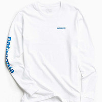 Patagonia Text Logo Long Sleeve Tee   Urban Outfitters