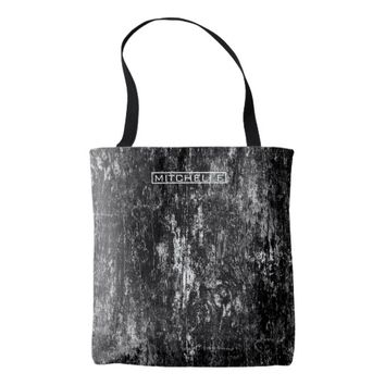 Personalized Chem Wash BW Tote Bag
