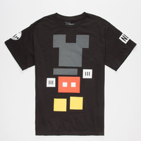Neff Disney Collection Mickey Blocks Mens T-Shirt Black  In Sizes