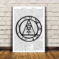Alchemy print Occult poster Modern decor Witch art RTA321
