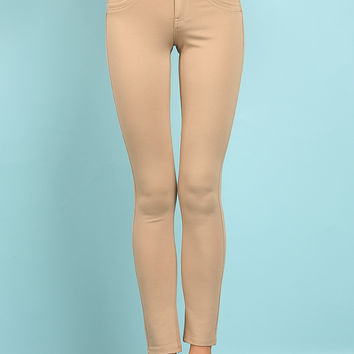 Four-Button High Waisted Jeggings