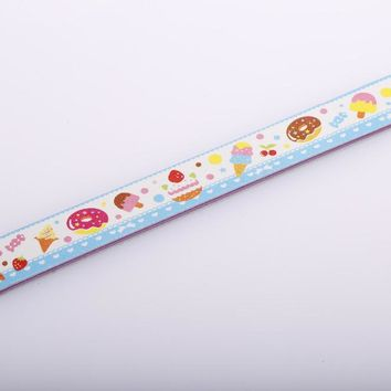 Cute Ice cream Pattern Stand Nail File For Gel Polish Nail Art Colorful Stand Nail Buffer Manicure Tools