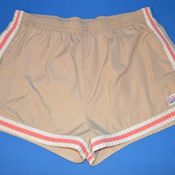 80s Cal Surf Striped Men's Swim Shorts Large
