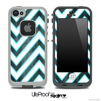 Large Chevron and Dark Wood V2 Skin for the iPhone 5 or 4/4s LifeProof Case
